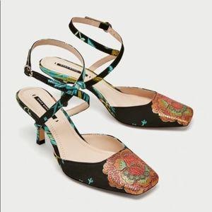 Zara Basic Tapestry Heels